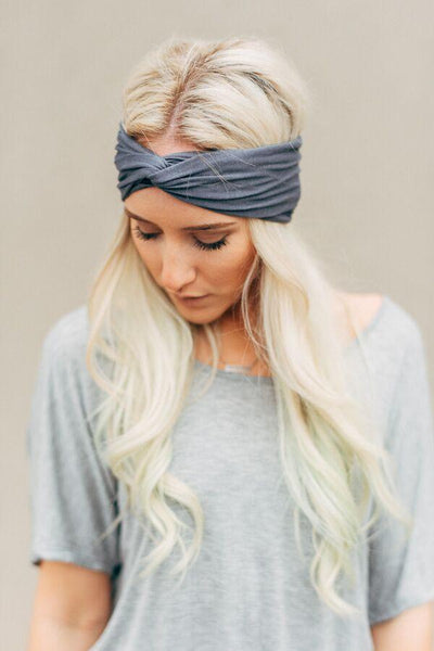 Moon Shadow Charcoal Turband-headband-Affordable Online Boutique | Cute + Trendy Women's Clothes - 2