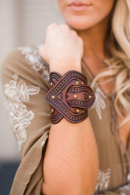 In the Saddle Leather Bracelet Cuff