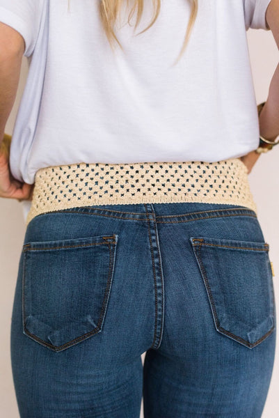 Pretty Crochet Back Belt