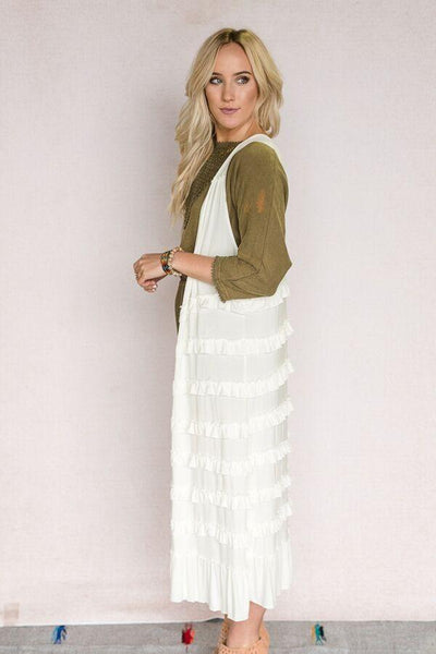 Tiered Layers Duster Vest