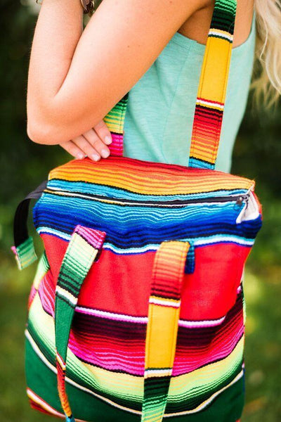 Mexican Serape Purse Bohemian Boho Bags from Three Bird Nest Pictures Showing Handles