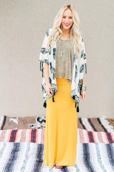 Mustard Maxi Skirt--Affordable Online Boutique | Cute + Trendy Women's Clothes - 2