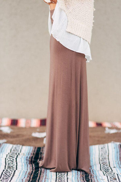 Great Lengths Mocha Maxi Skirt-Skirts-Affordable Online Boutique | Cute + Trendy Women's Clothes - 2