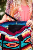 Inside Pocket Image of Southwestern Blanket Leather Purses showing Bohemian Style fro Three Bird Nest