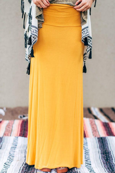Mustard Maxi Skirt--Affordable Online Boutique | Cute + Trendy Women's Clothes - 1