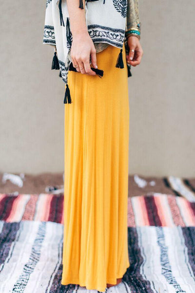 Mustard Maxi Skirt--Affordable Online Boutique | Cute + Trendy Women's Clothes - 3