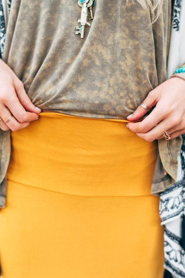 Mustard Maxi Skirt--Affordable Online Boutique | Cute + Trendy Women's Clothes - 4