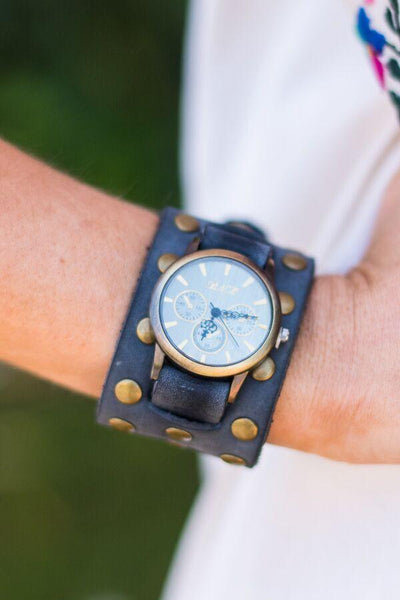 Bohemian Leather Cuff Watch from Three Bird Nest