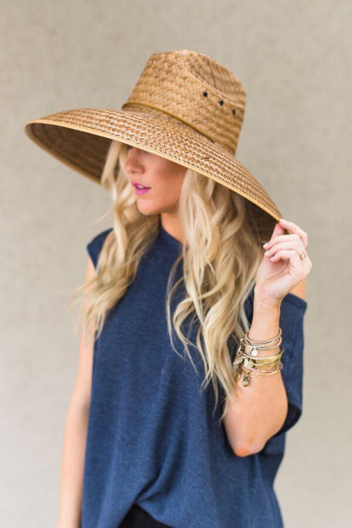 Beach wide brim cute women's hat