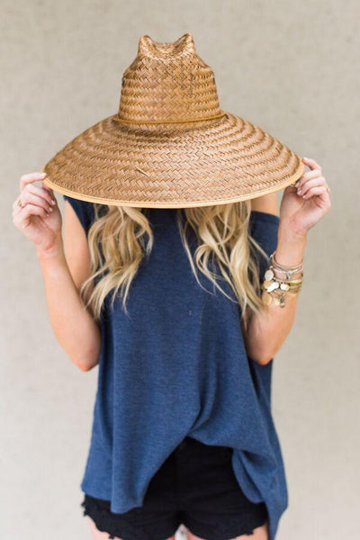 Oversized sun hat with wide brim and beauty Panama style