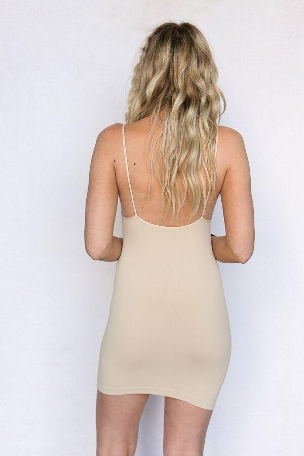Seamless Camisole Slip Top In Nude