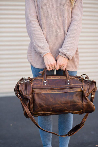 Broken IN Leather Oversized Duffle Bag