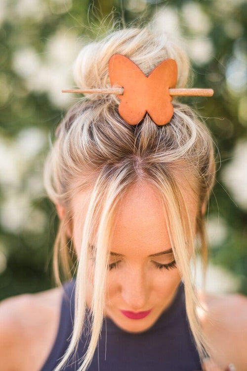 Leather Butterfly Hair Wrap