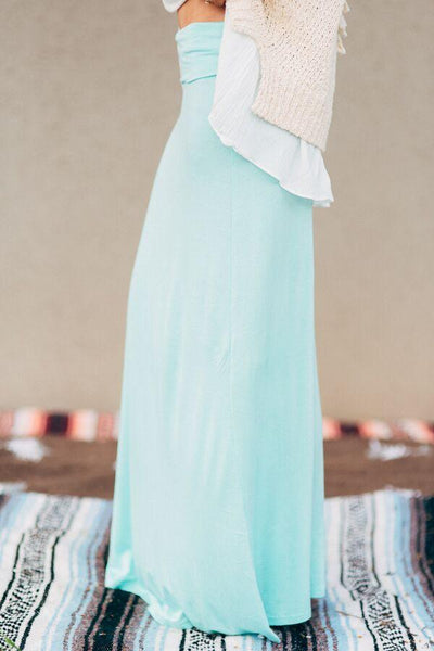 Great Lengths Mint Maxi Skirt-Skirts-Affordable Online Boutique | Cute + Trendy Women's Clothes - 2