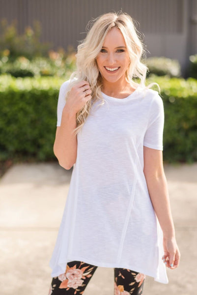 The Dove Short Sleeve Tunic In White