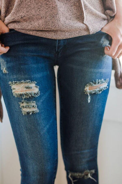 Slightly Distressed Skinny Jeans