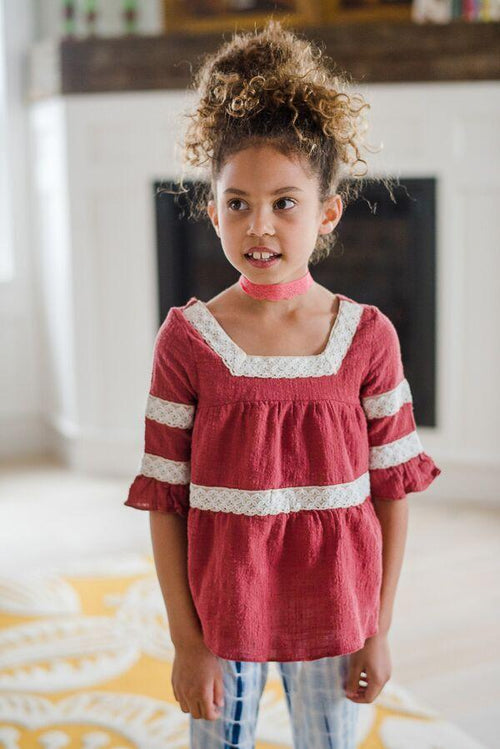 Kids Ruffled Babydoll Top