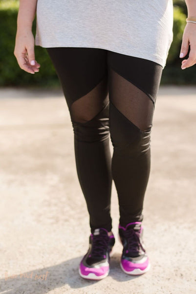 Mesh Open Active Leggings