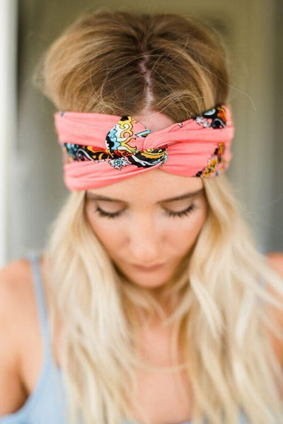 Sparrow Coral Calypso Wide Head Wrap
