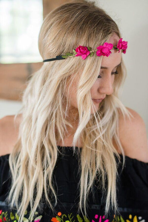Pink Dainty Flower Crown