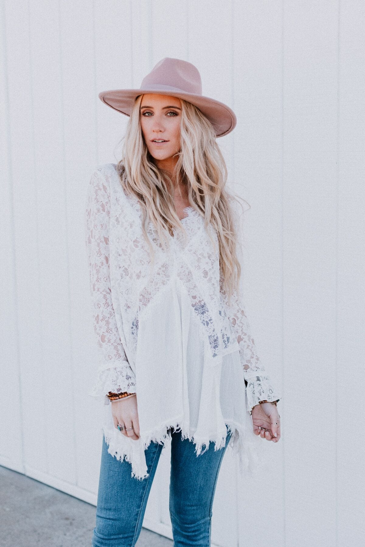 Image of Kristi Long Sleeve Lace Top