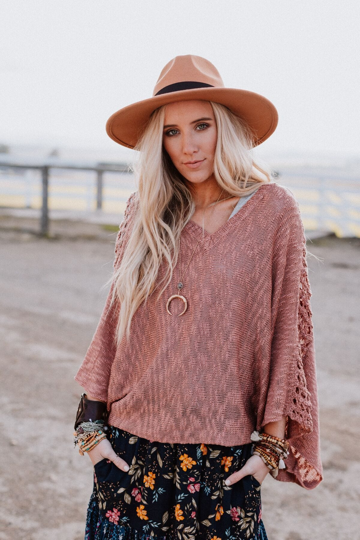 Image of Carefree Pullover Sweater - Mauve