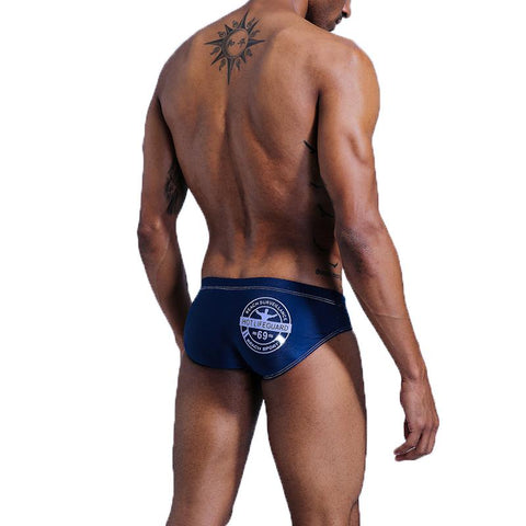 Hot Lifeguard Blue Men's Swim Brief - Happy Bulge Swim Co.