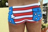 Cartoon Stars & Stripes Men's Swim Brief - Happy Bulge Swim Co.