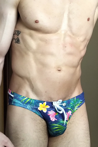 Flashy Floral Men's Swim Brief