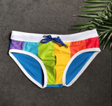 Radiant Rainbow Pride Men's Swim Brief
