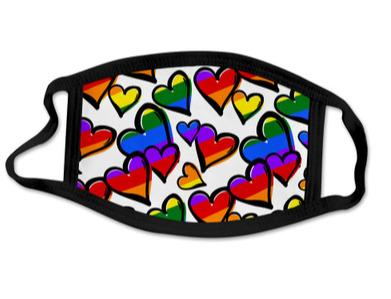 Hearts of Pride Adult Face Mask - Happy Bulge Swim Co.