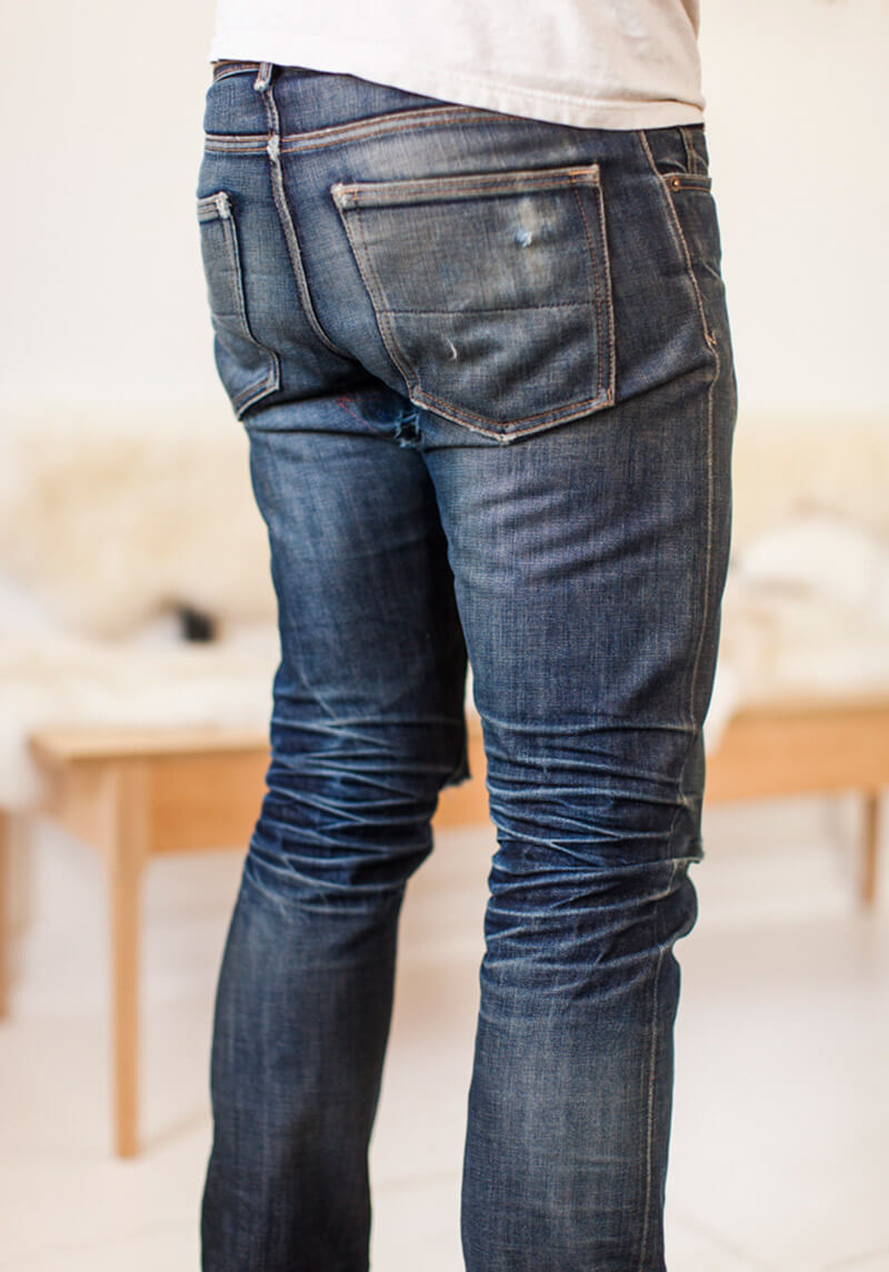 How to age denim jeans to get killer fades, honeycombs and creases