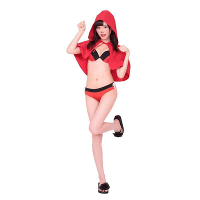 A&T - Red Riding-Hood Bikini Costume (Multi Colour) Costumes