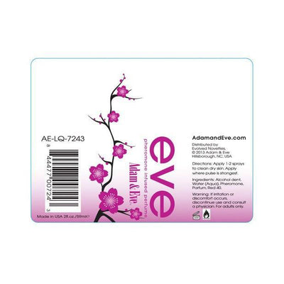 Adam & Eve - Eve Pheromone Infused Perfume 2 Ounce Bottle Spray (Pink) Pheromones - CherryAffairs Singapore