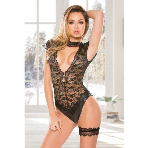 Allure Lingerie - 25th Anniversary Collection Sienna Teddy Lingerie L/XL (Black)