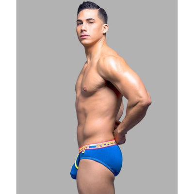 Andrew Christian - Almost Naked Dare Brief Medium (Royal) Gay Pride Underwear - CherryAffairs Singapore