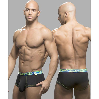Andrew Christian - Almost Naked Premium Boxer Small (Black) Gay Pride Underwear - CherryAffairs Singapore