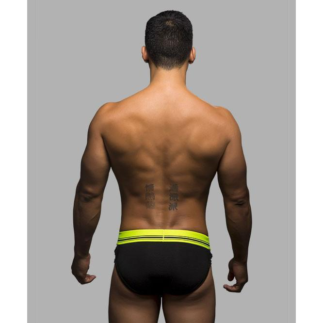Andrew Christian - FUKR Bound Brief Small (Black) Gay Pride Underwear - CherryAffairs Singapore