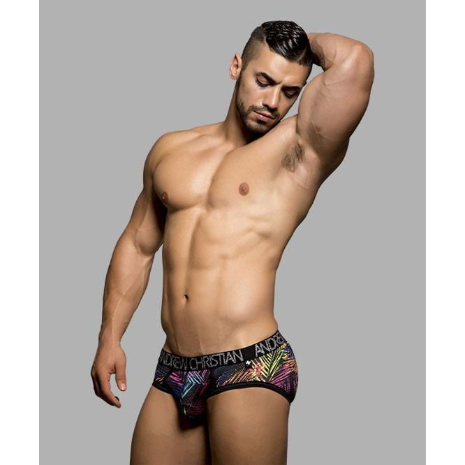 Andrew Christian - Palm Brief Large (Palm Print) Gay Pride Underwear - CherryAffairs Singapore