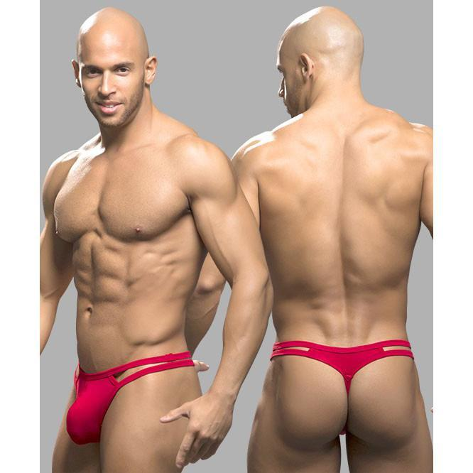 Andrew Christian - Spider Thong Small (Red) Gay Pride Underwear - CherryAffairs Singapore