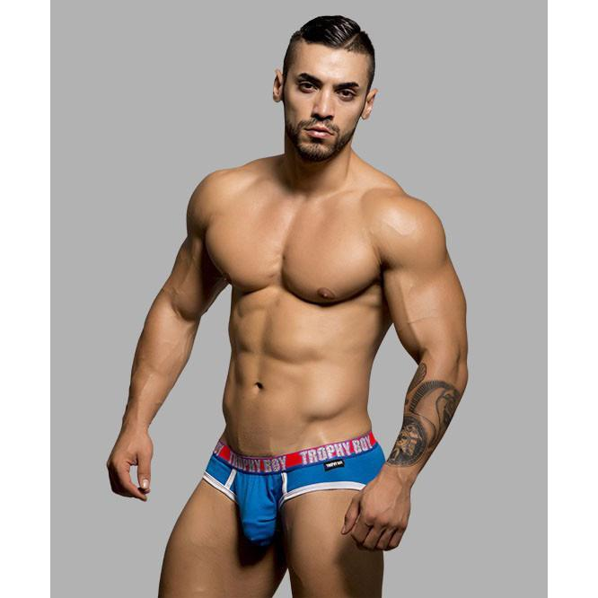 Andrew Christian - Trophy Boy Brief with Show-It X-Small (Electric Blue) Gay Pride Underwear - CherryAffairs Singapore