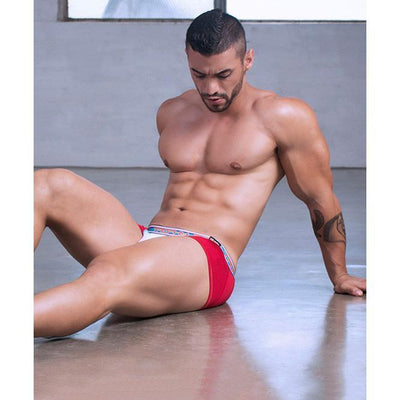 Andrew Christian - Trophy Boy Display Boxer with FlashLIFT Small (Red) | CherryAffairs Singapore