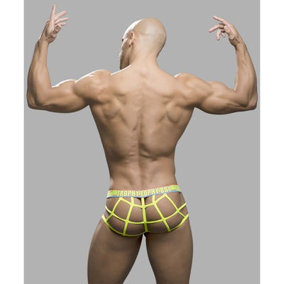 Andrew Christian - Trophy Boy Web Thong with Show-It Small (Black) Gay Pride Underwear - CherryAffairs Singapore