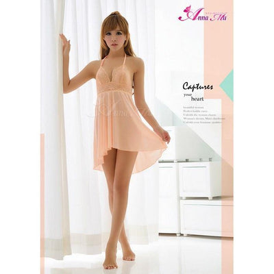 Anna Mu - Babydoll & Sleep Wear Mature Charm NA13020097 (Orange) Chemises - CherryAffairs Singapore