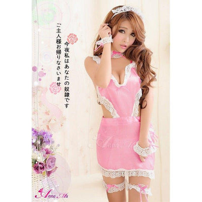 Anna Mu - Cosplay Costume Lovely Maid NA10030097 (Pink) Costumes - CherryAffairs Singapore