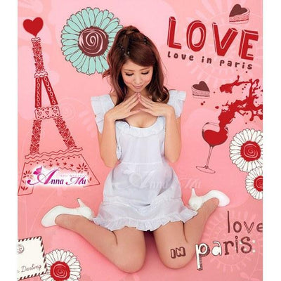 Anna Mu - Cosplay Costume Lovely Maid NA12030097 (White) Costumes - CherryAffairs Singapore