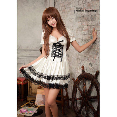 Anna Mu - Cosplay Costume Lovely Maid NA13030141 (White) Costumes - CherryAffairs Singapore