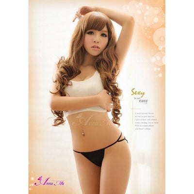 Anna Mu - Cutey Panties NA13010001 (Black) Lingerie (Non Vibration) - CherryAffairs Singapore
