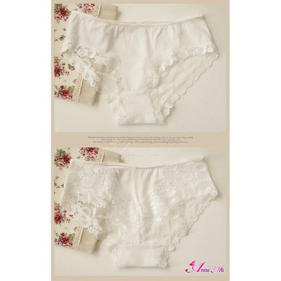 Anna Mu - Cutey Panties NA13010012-2 (White) Lingerie (Non Vibration) - CherryAffairs Singapore