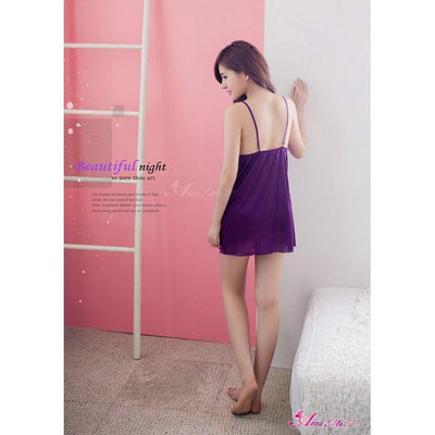 Anna Mu - Enchanting Chemise NA09020056 (Purple) Chemises - CherryAffairs Singapore